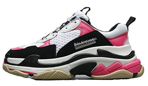 0d4e71886f7d Triple S Trainer Sneakers Pink Uomo Scarpe da Ginnastica Corsa Sportive  Fitness