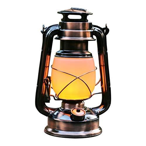 e LED Laterne Groß Flammeneffekt | Höhe 27cm | Sturmlaterne Metall Flackernd Flamme | Gartenlampe Dekolaterne Windlaterne mit Batterie | Sturmlampe Außenbereich, Garten, Indoor ()