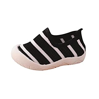 Boys Girsl Shoes Shoes, IGEMY Children Kids Baby Boy Girl Shoes Candy Color Fabric Mesh Casual Sport Sneakers (UK:4.5/ Age:9-18Month, Black)