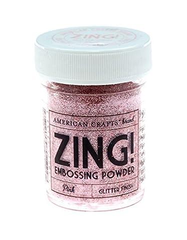 American Crafts 1-Piece 1 oz Zing Glitter Embossing Powder, Pink