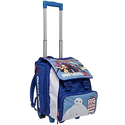 Big Hero 6 Kids Trolley Backpack Cabin Bag Kids Hand Luggage Trolley kids hand luggage flight bags kids hand luggage robot With On wheels for boys kids backpack with wheels kids backpack boys cheap
