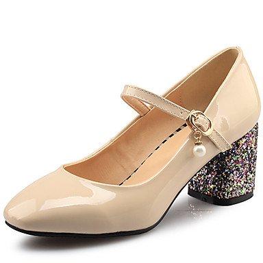 Zormey Frauen Schuhe Ferse Quadratische Spitze Schnalle Pumpe Mehr Farbe Verfügbar US5.5 / EU36 / UK3.5 / CN35