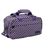 Members Essential secondo bagaglio a mano autorizzato da Ryanair Purple & White Polka Dots 35 x 20 x 20 cm - 0.5 kg