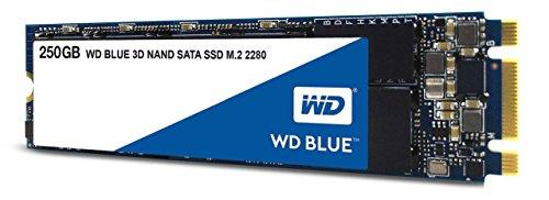 WD Blue 3D NAND 250 GB SATA SSD, interne M.2 2280 Festplatte bis zu 550 MB/s Lese- und 525 MB/s seq. Schreibgeschwindigkeit