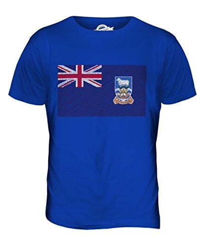 CandyMix Falklandinseln Kritzelte Flagge Herren T Shirt Königsblau