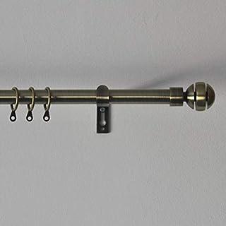 Acrimo Extendable Curtain Pole 120-210 cm (Gold, Ball)