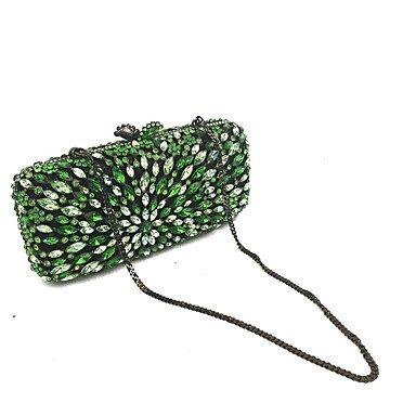 Heart&M Abendtasche PU Metall Ohne Reißverschluss Grün Green