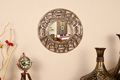 Cocovey Aluminum Round Decorative Mirror
