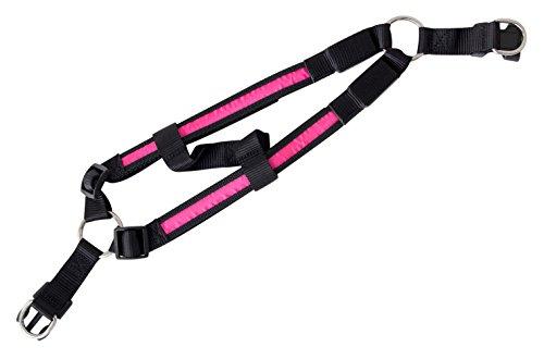 Pettorina LED Pettorina per la sicurezza del cane Collare luminoso Pettorina lampeggiante per gatto cane animale domestico di colore rosa misura M batterie incluse marchio PRECORN