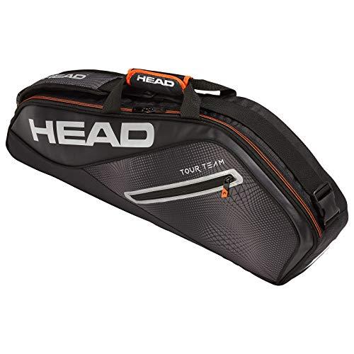 HEAD Tour Team 3r Pro Tennisschlägertasche, Unisex, 283139BKSI, schwarz/Silber, Einheitsgröße