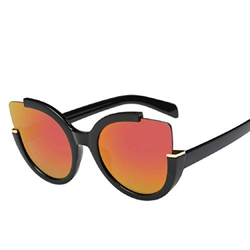 Ikevan 2017 Neueste Mode Frauen Herren Vintage Retro Brille Unisex Fashion Aviator Spiegel Gläser Sonnenbrille Orange