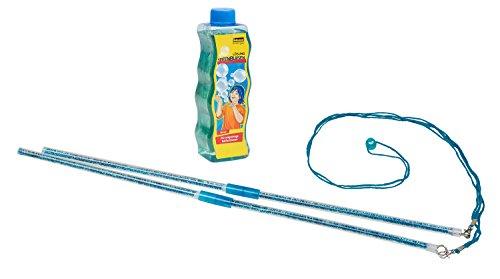 Idena 40022Mega de pompas de jabón con Varilla, Incluye Solución de pompas de jabón 354ML