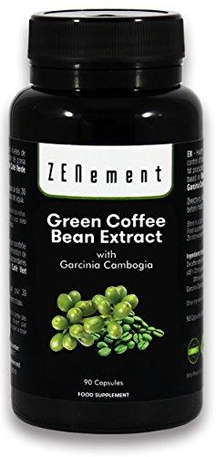 Extracto de Café Verde Natural con Garcinia Cambogia pura, 90 cápsulas, 100% Natural