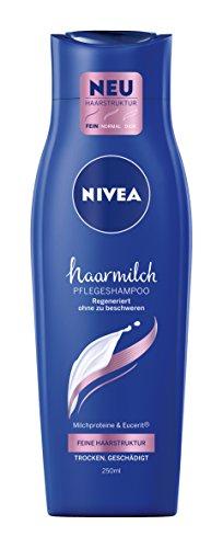 NIVEA Haarmilch Pflegeshampoo Feine Haarstruktur, 4er Pack (4 x 250 ml)