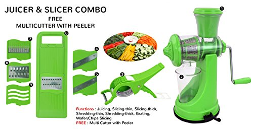 Apsara Premium Kitchen Tools Combo Of Fruit & Vegetable Juicer, 6 In 1 Slicer And Veg Cutter With Peeler