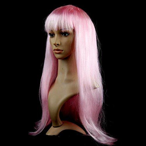 Longless Perücken lange Gerade Haarfarbe micro-roll Liu Haichang glattes Haar Sätze von Halloween Requisiten Jahr (Kostüm Kleid Khaleesi)