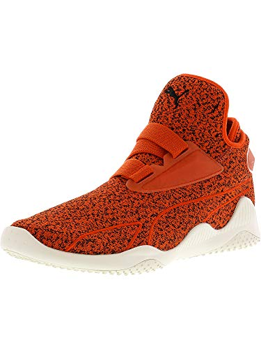 PUMA Men s Mostro Sirsa Elemental Tomato Pepper Black Whisper White Ankle-High Fashion Sneaker - 9 5M