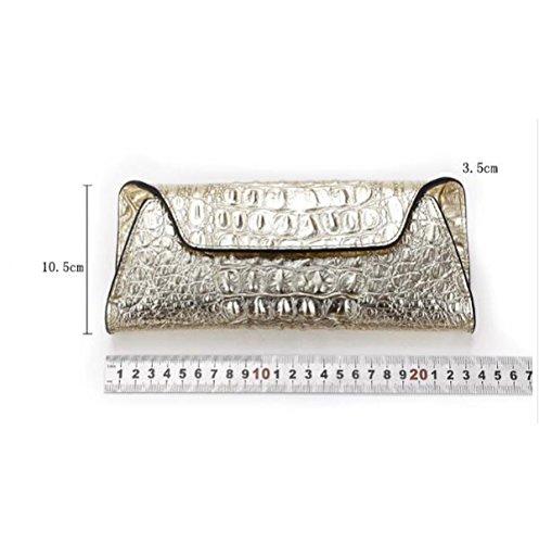 Europa E Stati Uniti Pelle Borse Modello Coccodrillo Frizione Signore Moda Borsa Da Sera Silver