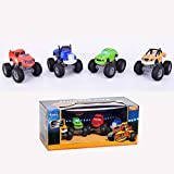 JINGYUAN Blaze and The Monster Machine Vehicle 4 Piezas Set Truck Vehicles Racer Cars Toy