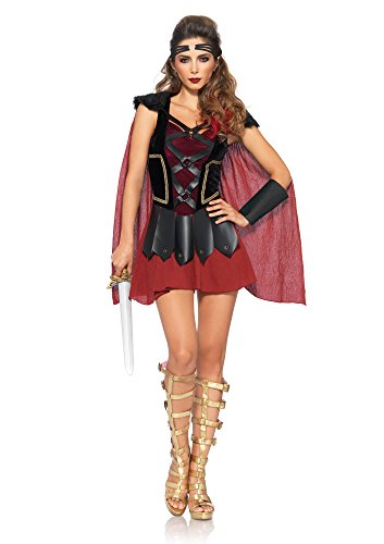 Kostüm Kriegerin Römische (Leg Avenue 85411 - 4Tl. Trojan Krieger Damen kostüm, Größe M/L (EUR 38-40), Damen Karneval Kostüm)