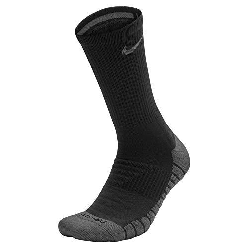 Nike Performance Cushion Crew Golfsocken, Black/Dark Grey, M -