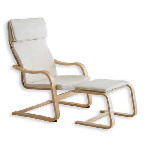 Relax - Sessel LINA beige inkl. Fußteil