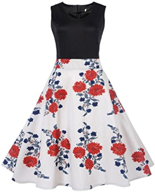 Keepwin Eudolah Elegante Falda Mid 50s Retro Audrey Hepburn Swing Rockabilly Vestidos