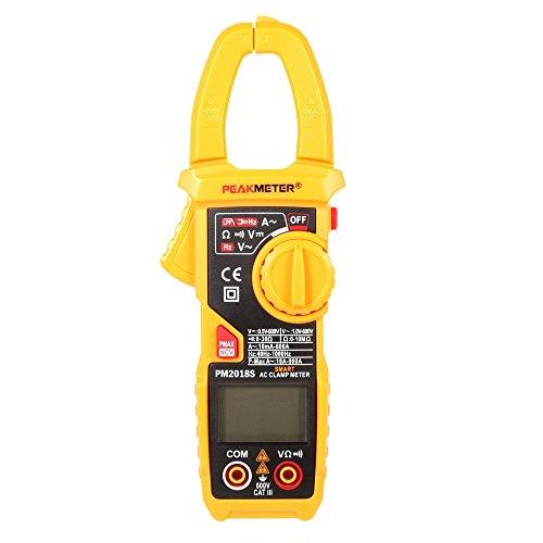 Peakmeter pm2018s Professional Smart Digital AC Current Clamp Meter LCD Multimeter Spannung Widerstand Kontinuität Messung Tester Automatische Bereich Ac Current Clamp Meter