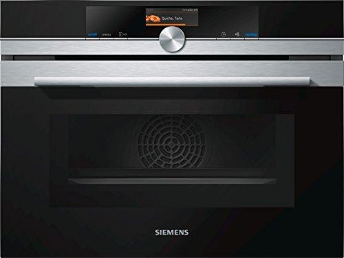 Siemens CM676GBS1 - Horno (Eléctrico, Convección, Convencional, Microonda, Integrado, Negro, Acero inoxidable,...