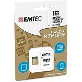 Tarjeta de memoria 16GB para Huawei Ascend G7–Micro SD clase 10+ Adaptador SD–EMTEC