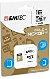 EMTEC Memory Card 16 GB for Wiko Lenny (Micro SD Class 10 with SD Adaptor -