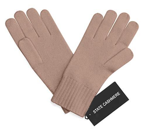 State Cashmere 100% Pur Cashemire Gants, Cable Tricoté Design - Ultimate doux, chaud et douill