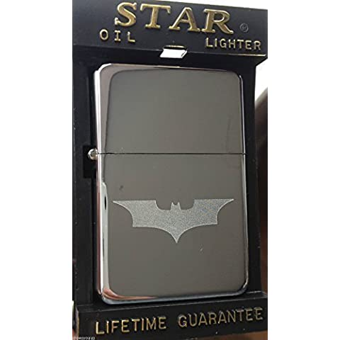 Batman Personalizzato Benzina Star Argento Accendino +