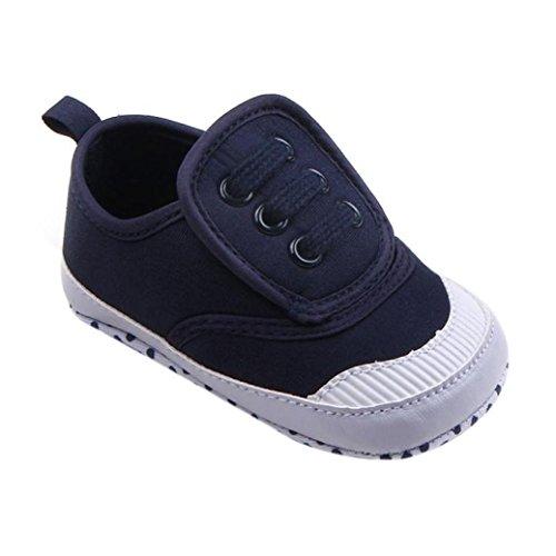erthome Baby Schuhe, Infant Baby Boy Girl Leinwand Weiche Sohle Krippe Schuhe Sneaker (12-18 Monate, Blau)