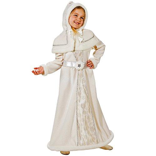 Kinder Kostüm Schneekönigin Snow White Märchen Prinzessin Fasching Karneval ()