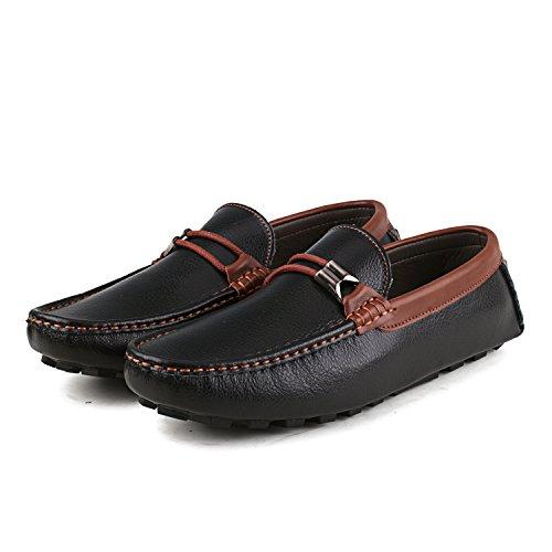 Shenduo - Mocassins pour homme cuir - Loafers confort - Chaussures de ville D3358 Noir