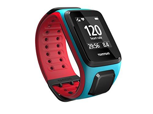 TomTom Runner 2 Cardio GPS Uhr, blau/rot, L, 1RF0.001.00