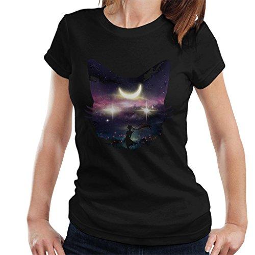 Sailor Moon Luna Face Collage Women's T-Shirt