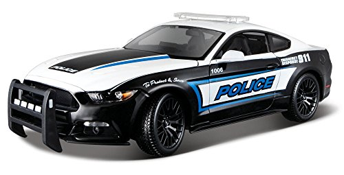 Maisto 2015 Ford Mustang GT 36203, Police, 1:18 Die Cast (1 18 Diecast Ford Gt)