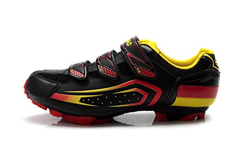 Tiebao - Zapatillas de ciclismo para hombre, color negro, talla 39
