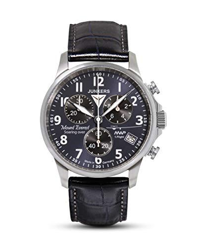 Junkers Herren Chronograph Quarz Uhr mit Leder Armband 68943
