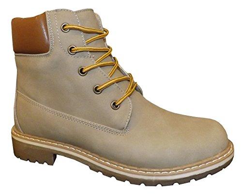 Jumex HP6402 Damen Winter Boots Stiefeletten in versch. Farben Lt. Khaki