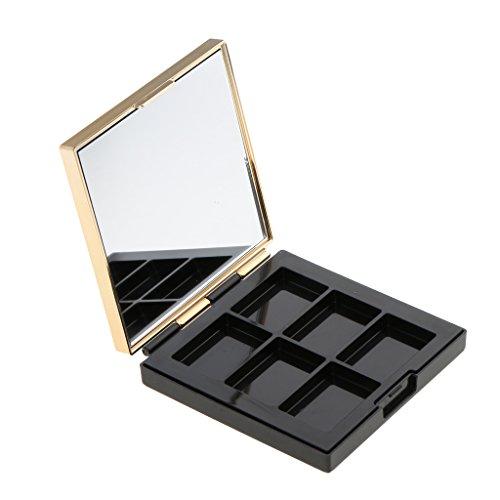 Leere Make-up Palette (Sharplace Leere Make-up Palette mit Spiegel Reise Lidschatten Palette Kosmetische DIY Palette)