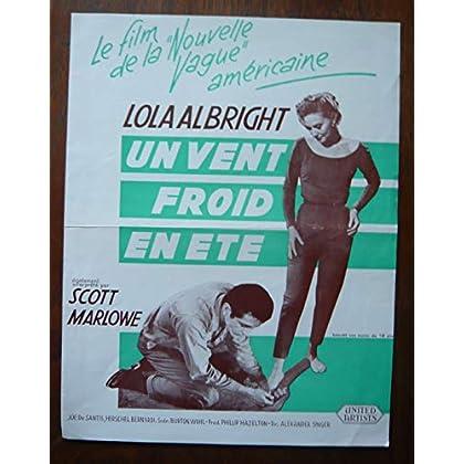 Dossier de presse de Un vent froid en été (1960) – 31x48cm - Film de Alexander Singer avec Lola Albright, Scott Marlowe – Photos – résumé scénario – Bon état.