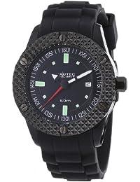 Nautec No Limit Herren-Armbanduhr XL Pollywog Analog Silikon NN-POLL-QZ-RB-PCBK-BK