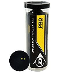 Dunlop Pro Squashball double yellow dot 3 balls tubeThe official ball of the WSF, PSA and WISPA and the only ball used in professional international competition. The ultimate performance squash ball for professional, tournament and club players.