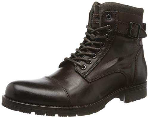 JACK & JONES Jfwalbany Leather, Botas Estilo Motero para Hombre, Marrón Coffee Bean, 43 EU