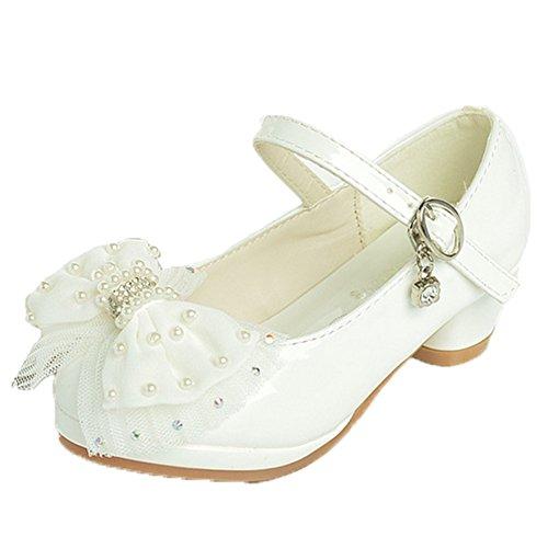 OPSUN Chuaussures princesse Enfants Filles Ballerines à bride Chaussure Cérémonie Mariage Escarpin Babies abricot