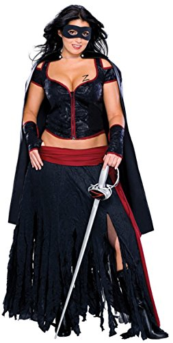 Kostüm für Damen - S (Erwachsene Lady Zorro Kostüme)