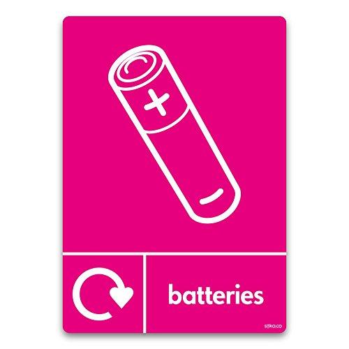 ufkleber Wrap Recycle jetzt 10x 15cm Batterien Zellen ()